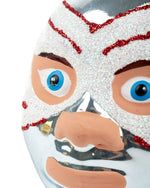 Cody Foster Mexican Wrestler Head, Ice Blue & White