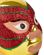 Cody Foster Mexican Wrestler Head, Gold & Red