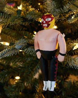 Load image into Gallery viewer, Cody Foster Luche Libre Ornament, Black & Yellow