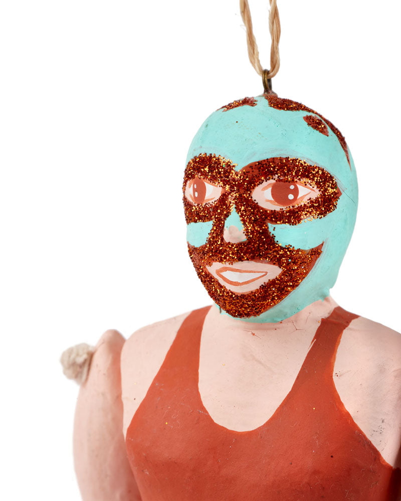 Cody Foster Luche Libre Ornament, Orange