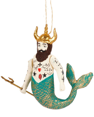Load image into Gallery viewer, Cody Foster Poseidon Merman Ornament