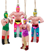 Cody Foster Glass Luche Libre Ornament