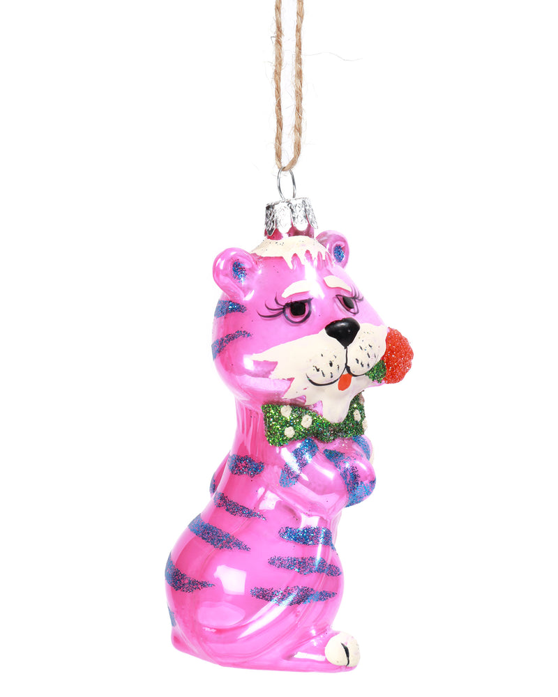 Load image into Gallery viewer, Retro Tiger Ornament