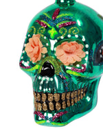 Sugar Skull Ornament, Green