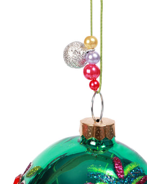 Load image into Gallery viewer, Sugar Skull Ornament, Green