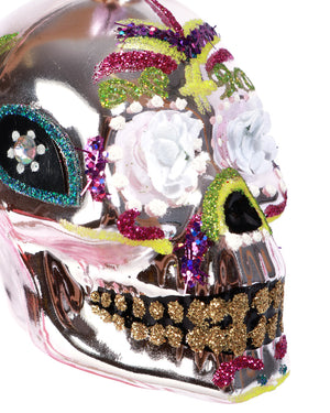 Load image into Gallery viewer, Sugar Skull Ornament, Pink