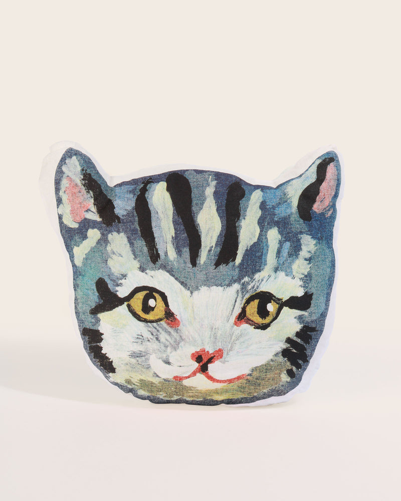 Nathalie Lété Grey Cat Cushion