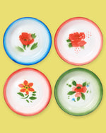 Enamel Rice Plate, Set of 4