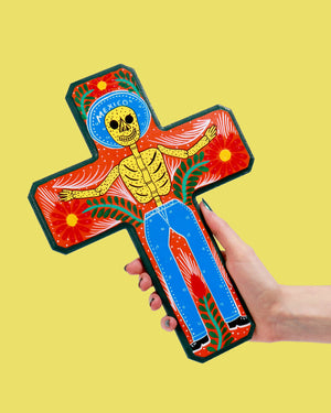 Load image into Gallery viewer, Familia Lorenzo Original Painting, Skeleton Cross
