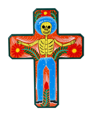 Familia Lorenzo Original Painting, Skeleton Cross