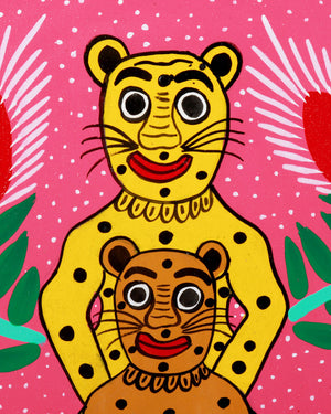 Load image into Gallery viewer, Familia Lorenzo Original Painting, Mother & Baby Jaguar