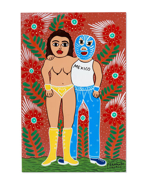 Load image into Gallery viewer, Familia Lorenzo Original Painting, Saucy Luchadores