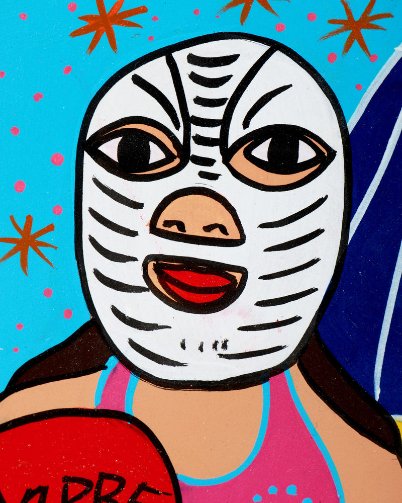 Load image into Gallery viewer, Familia Lorenzo Original Painting, Luchador Love