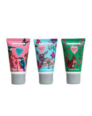 Load image into Gallery viewer, Nathalie Lété Forest Folk Mini Hand Cream, Set of Three