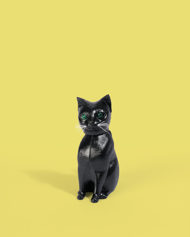 Nodding Black Cat