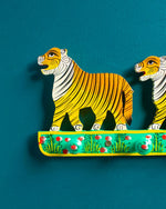Hand-Painted Wooden Tiger Coat Hook