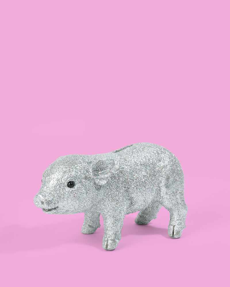 Load image into Gallery viewer, Disco Pig Coin Bank