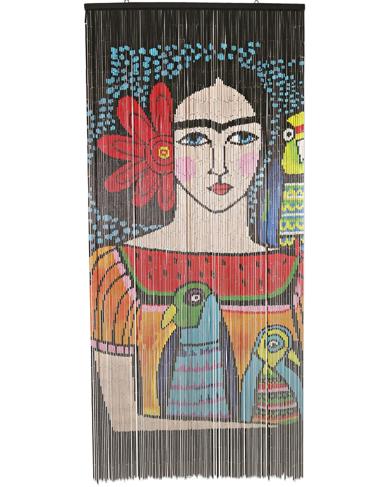 Frida Illustration Bamboo Curtain