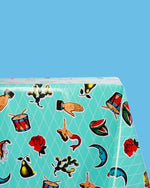 Loteria Oilcloth, Turquoise