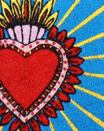 Flaming Heart Doormat