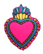 Milagro Heart Cushion, Pink