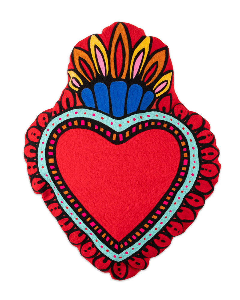 Load image into Gallery viewer, Milagro Heart Cushion, Red