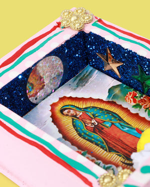 Load image into Gallery viewer, Mini Guadalupe Altar, Pink