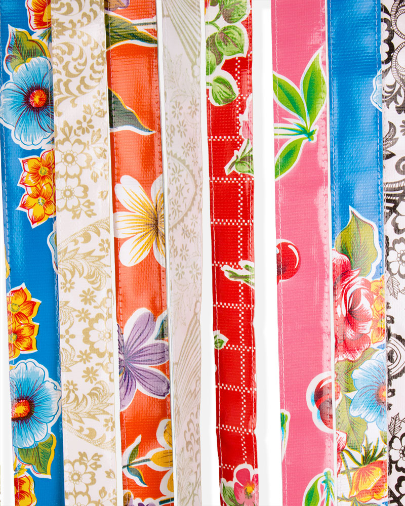 Load image into Gallery viewer, Mexican Oilcloth Door Curtain