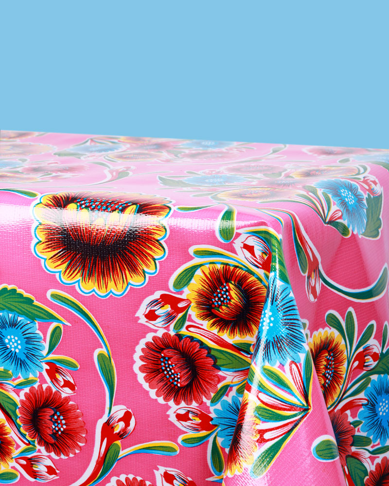 Load image into Gallery viewer, Floral Oilcloth, Fuchsia