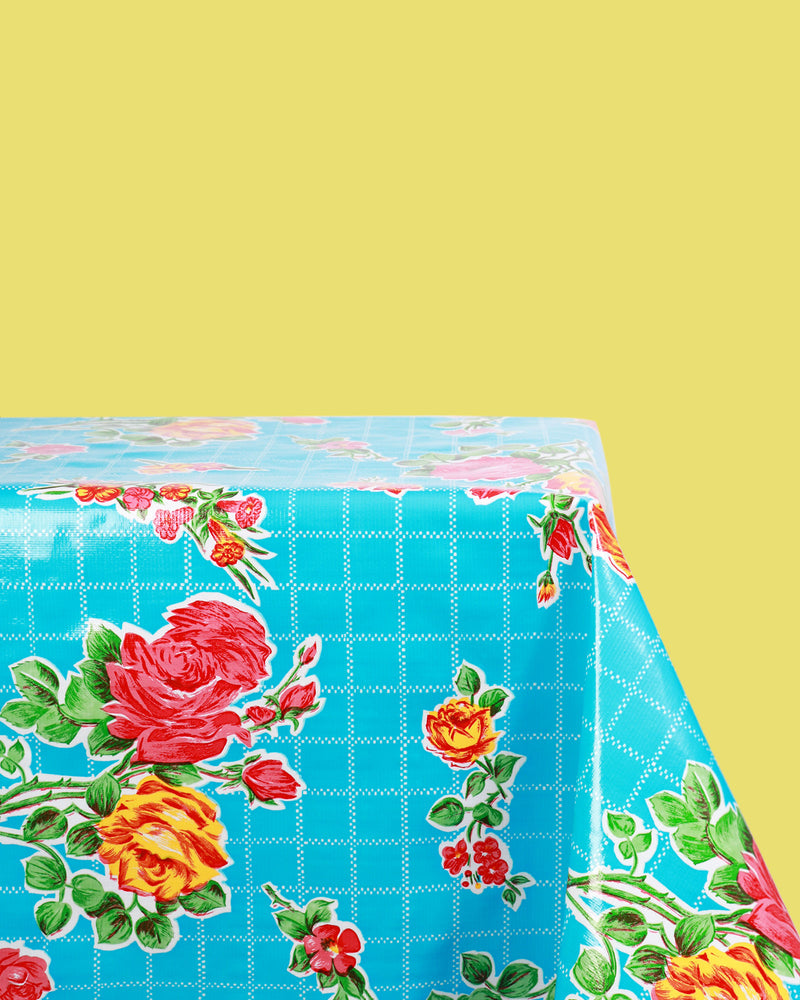 Rose Oilcloth, Turquoise