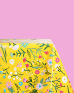 Flower Field Oilcloth, Yellow
