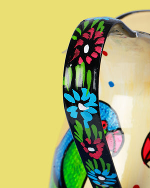 Load image into Gallery viewer, Hand-Painted Enamel Parrot Jug
