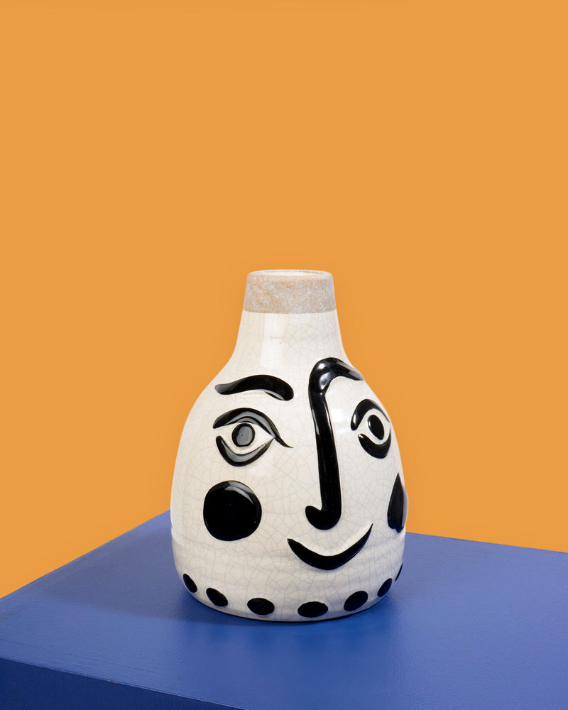 Load image into Gallery viewer, Madam Stoltz Ceramic Face Vase, Small