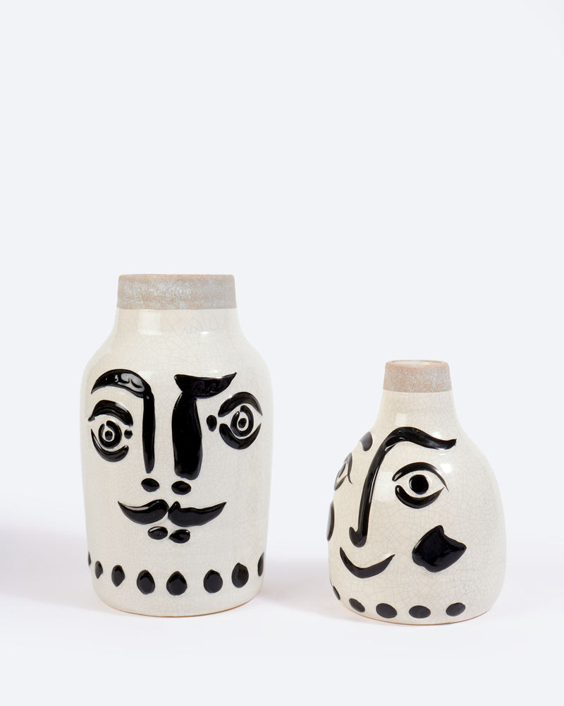 Madam Stoltz Ceramic Face Vase, Small