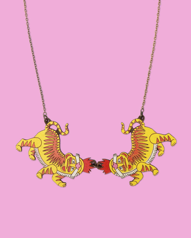 Tiger Twins Necklace