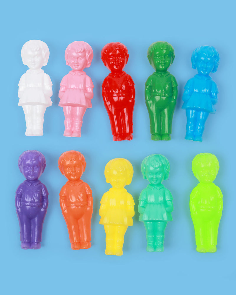 Mini Plastic Doll, Set of 10