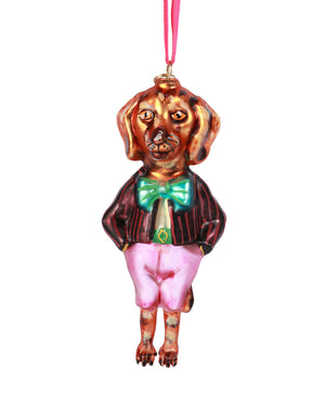 Load image into Gallery viewer, Nathalie Lété Dog Ornament, Dachshund