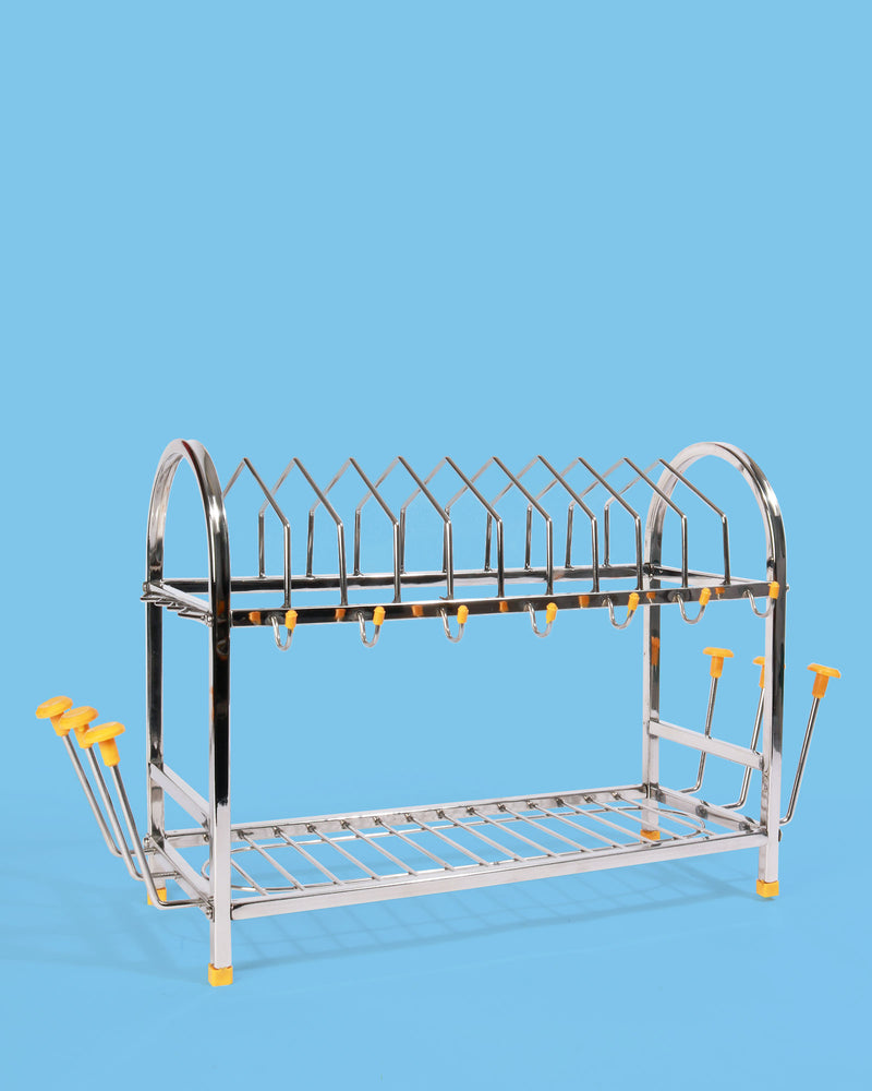 Indian Metal Dish Rack, Large