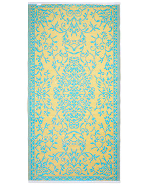 Load image into Gallery viewer, 90 x 180 cm Woven Plastic Mat, Turquoise