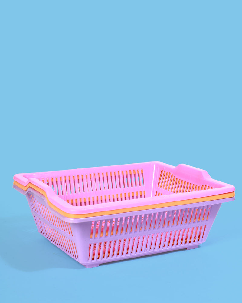 Large Storage Baskets, Set of 3 Pastel