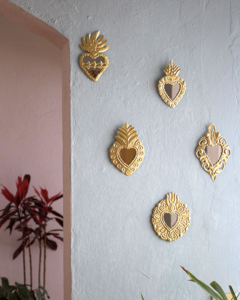 Embossed Wall Milagros Pair, Set Four