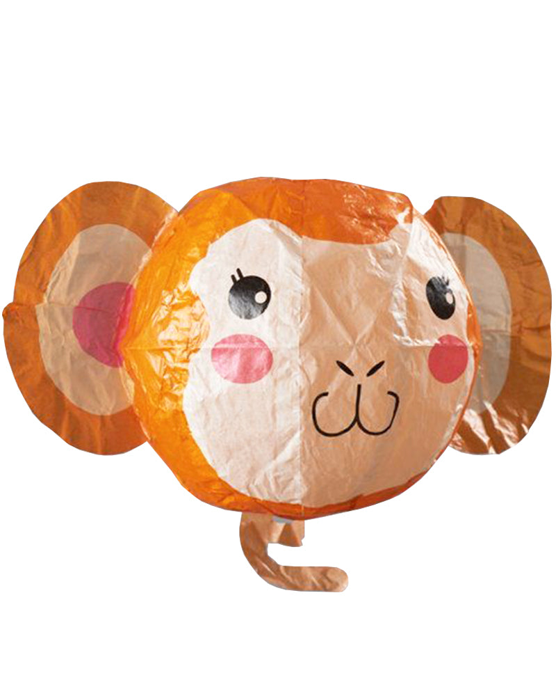 Monkey Card with Paper Balloon