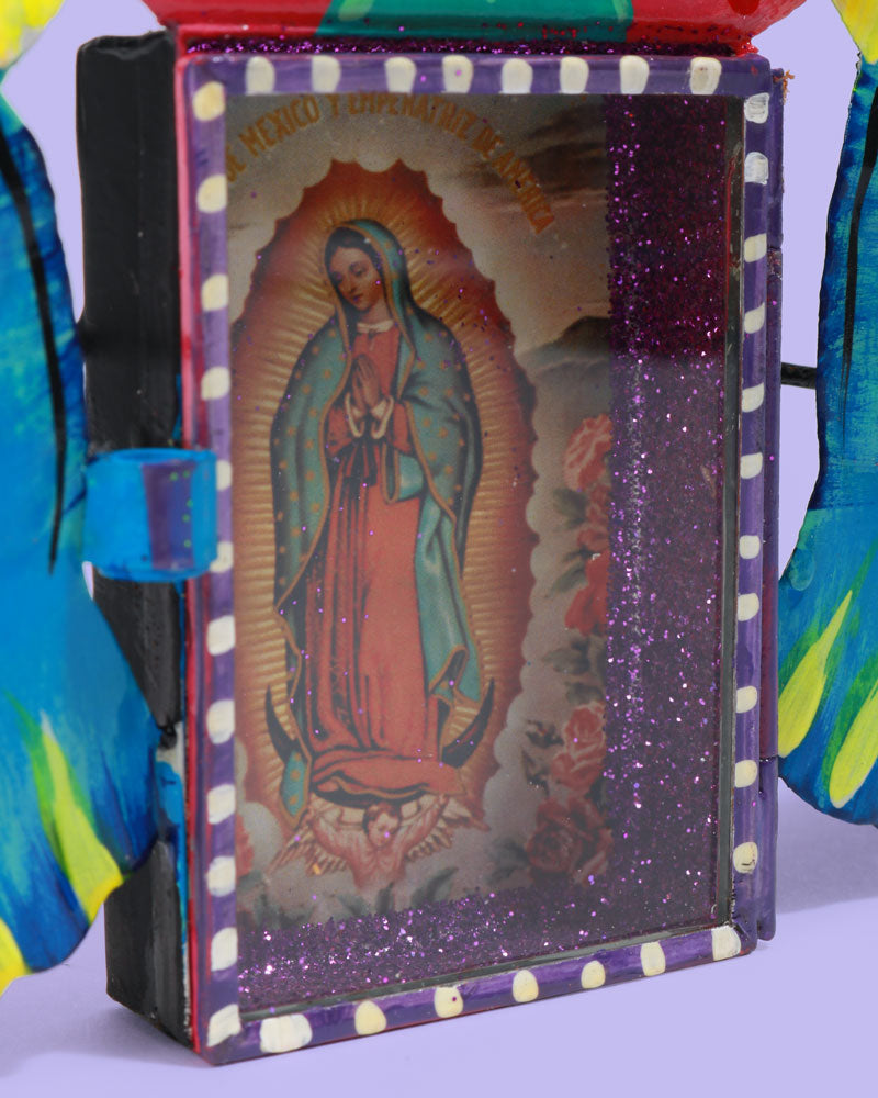 Guadalupe Palomitas Wall Shrine, Blue
