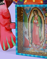 Guadalupe Palomitas Wall Shrine, Pink