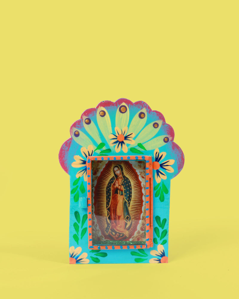 Guadalupe Floral Shrine, Turquoise