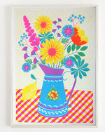Summer Blooms Risograph Print