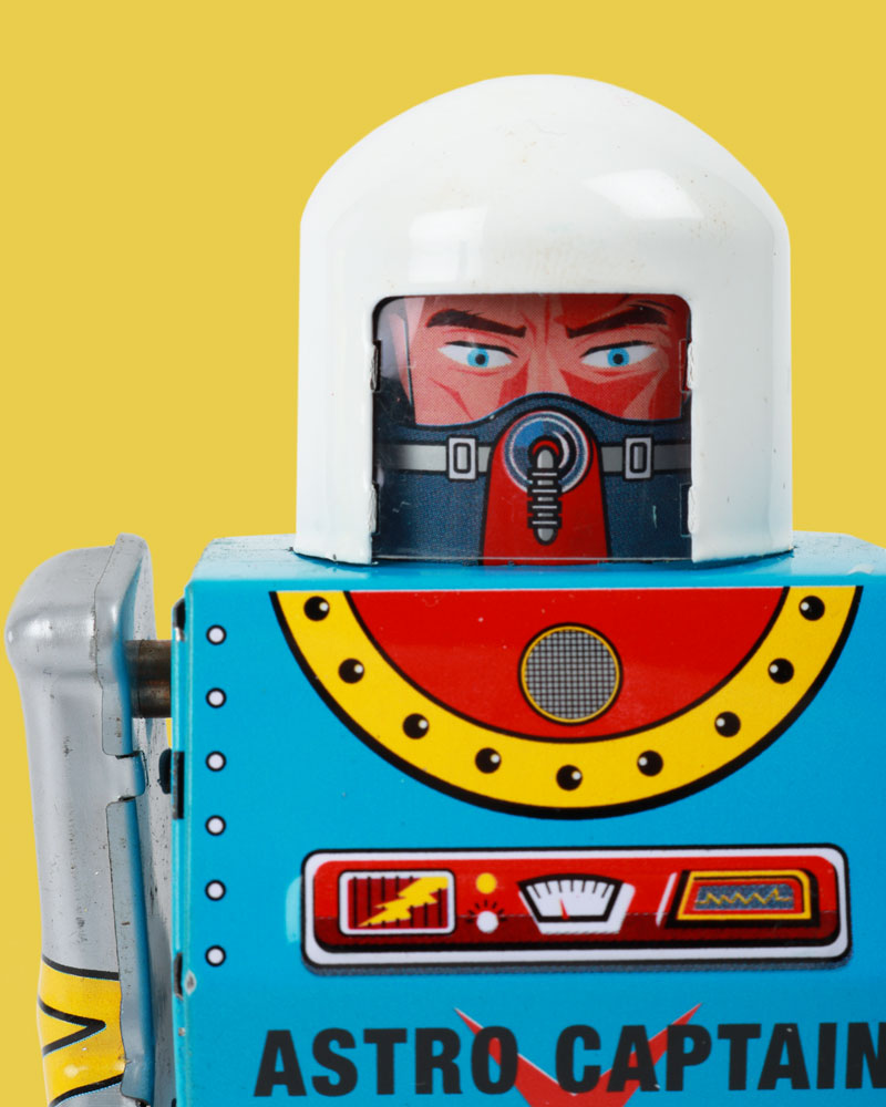 Astro Captain Robot Tin Toy
