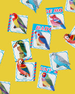 Bird Tin Badge, Assorted