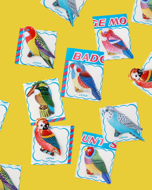 Load image into Gallery viewer, Bird Tin Badge, Assorted