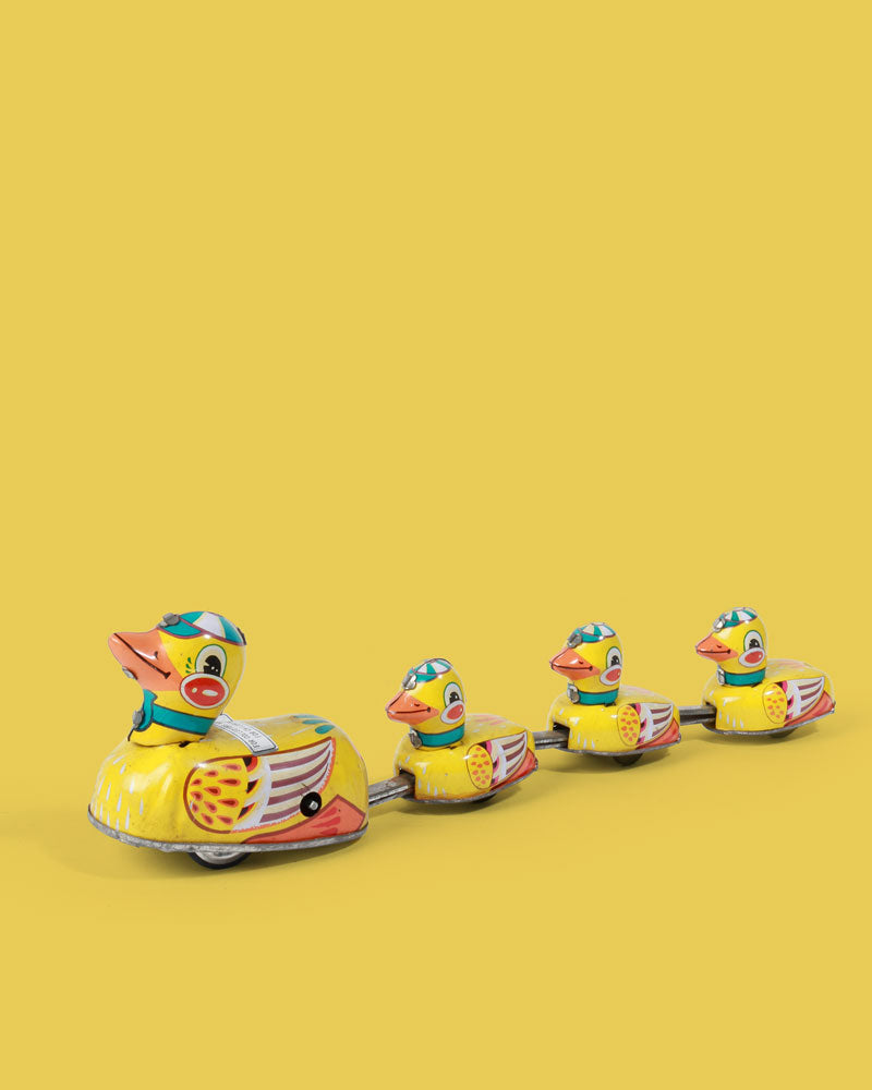 Duck Family Tin Toy